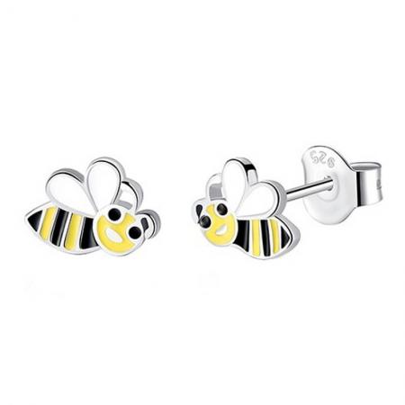 Boucles d'oreilles abeille
