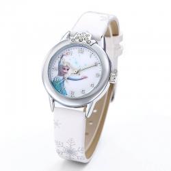Montre elsa fille la reine des neiges rose fushia