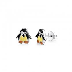Boucles d'oreilles pingouin en Argent 925