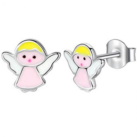 Boucles d'oreilles ange en Argent 925