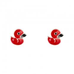 Boucles d'oreilles canard en Argent 925