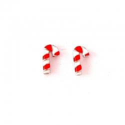 Boucles d'oreilles sucre d'orge Noël