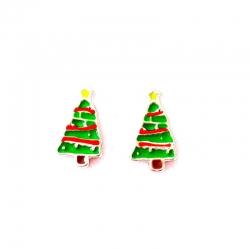 Boucles d'oreilles sapin de Noël