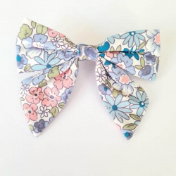 Barrette liberty bleue rose