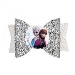 Barrette noeud Elsa et Anna