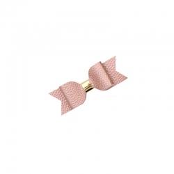 Barrette simili cuir rosée