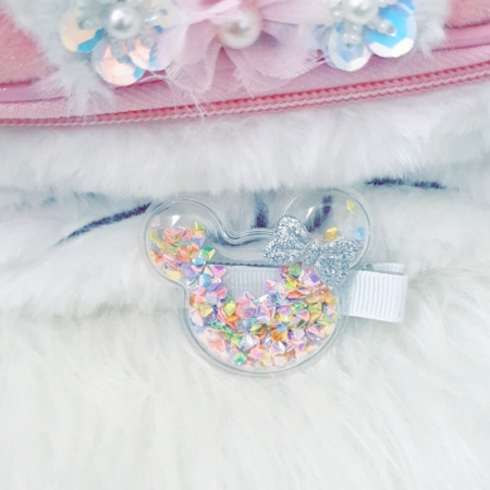 Barrette minnie confettis multicolores