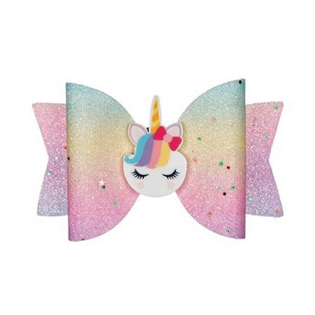 Barrette licorne multicolore