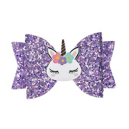 Barrette licorne violette