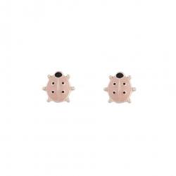 Boucles d'oreilles coccinelle rose