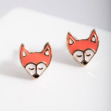 Boucles d'oreilles renard