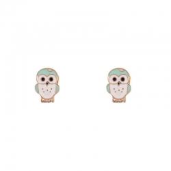 Boucles d'oreilles chouette