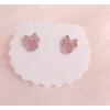 Boucles d'oreilles Minnie rose