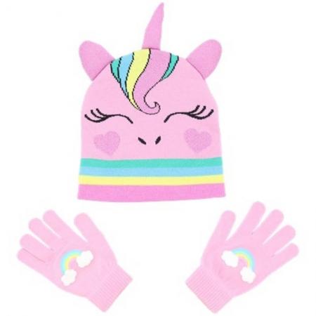 Bonnet et gants enfant licorne
