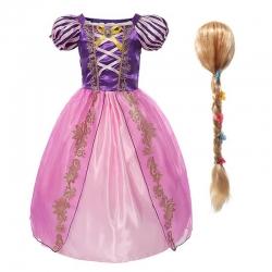 Déguisement robe + perruque Raiponce