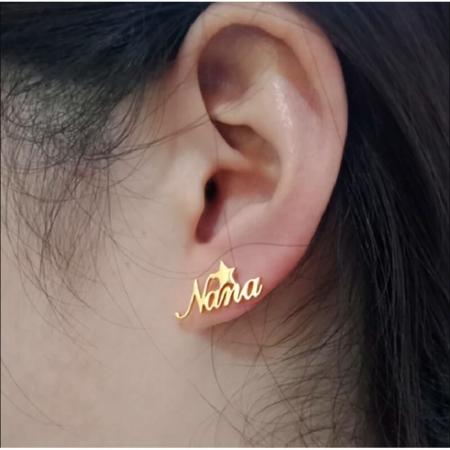 Boucles d'oreilles personnalisée prénom