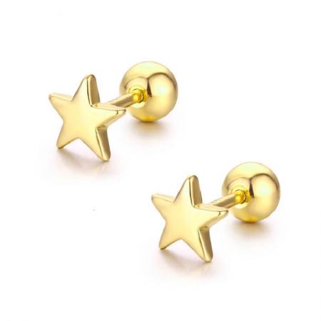 Boucles d'oreilles étoile en Plaqué Or